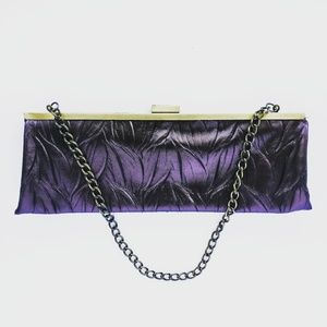 Jessica McClintock Clutch with Gold Accents
